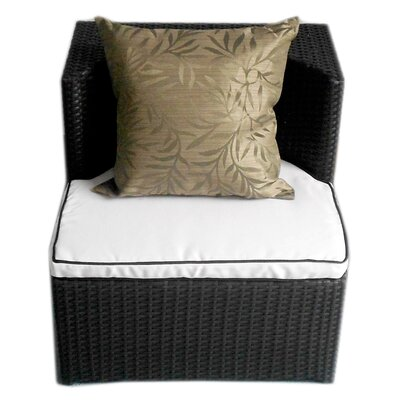 Deeco Geo-Cube All Weather Wicker Lounge Seating Group with Cushions
