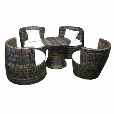 Deeco Geo-Vase Stacking 5 Piece Lounge Seating Group with Cushions