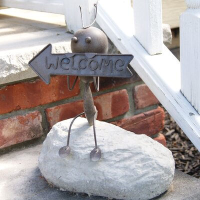 Deeco Welcome Ant Garden Sign