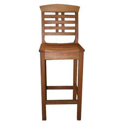 Outdoor Interiors Eucalyptus Hi Back Bar Chair