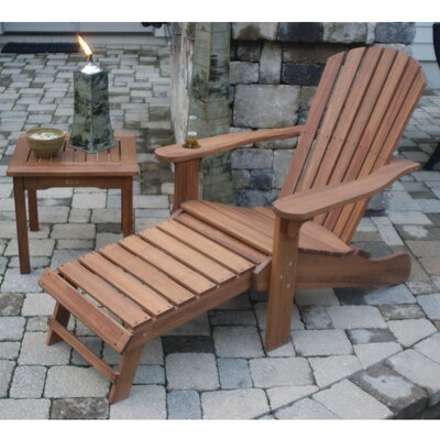 Outdoor Interiors Eucalyptus Adirondack Chair