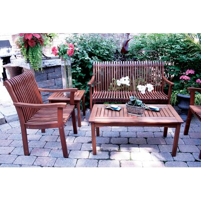 Outdoor Interiors All Keruing Hardwood Venetian Deluxe Arm Chair