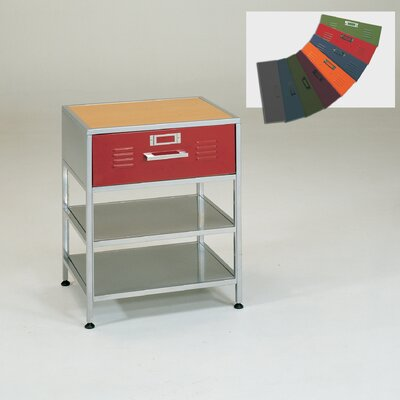 Elite Products Locker 1 Drawer Nightstand
