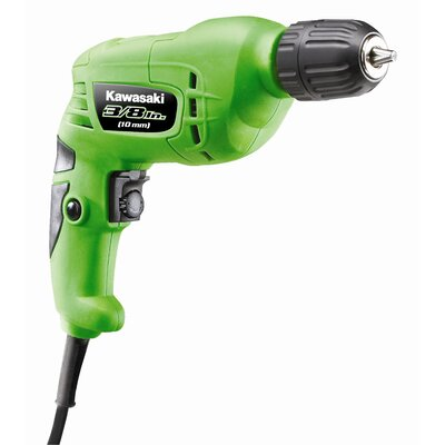 "Kawasaki 0.38"" Heavy Duty Variable Speed Drill With Keyless Chuck"