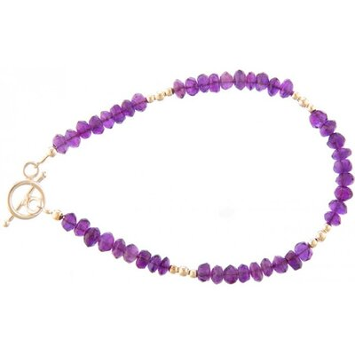 Sitara Jewelry Faceted Amethyst Bracelet
