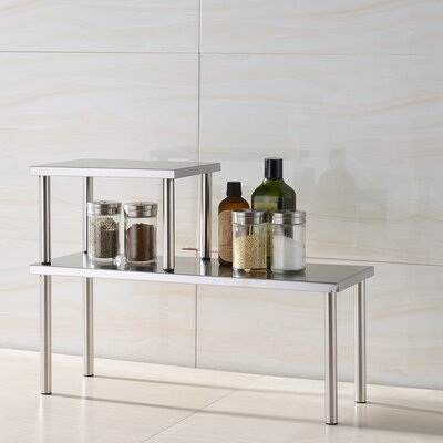 Cook N Home Stainless Steel Square Corner Storage Shelf