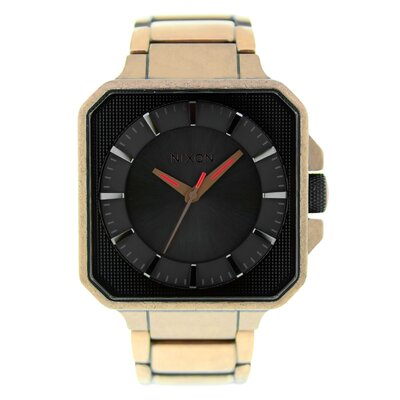 Nixon Men's Platform Watch with Black Dial