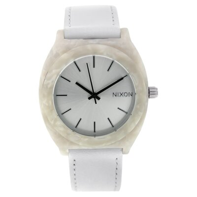 Nixon Women's Time Teller Watch with Leather Strap