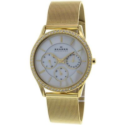 Women's Mesh and Glitz Crystal Watch