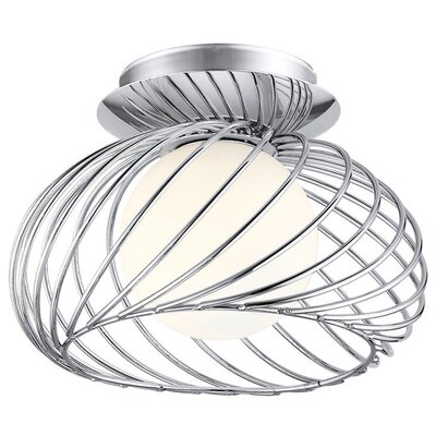 EGLO Thebe 1 Light Semi Flush Ceiling Light