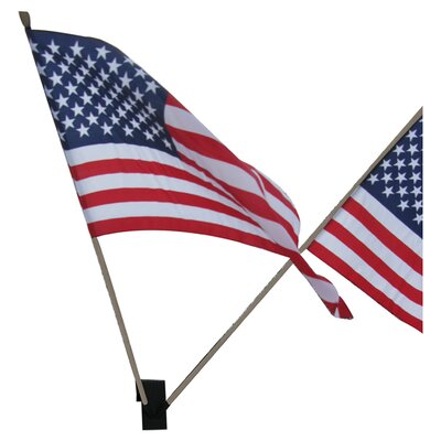 MIDE Products Flag Holder with USA Flags Set