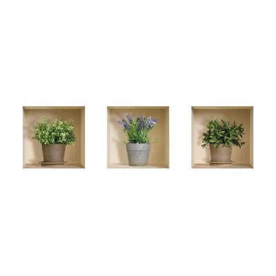 3D Effect Garden Herb Wall Decals