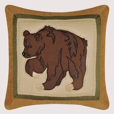 C & F Enterprises Big Sky Bear Quilt Pillow