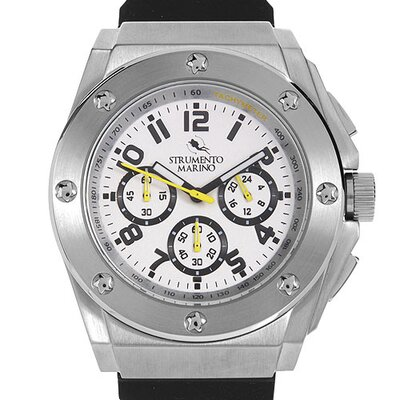 Atlantis SM055RSS/WH Men's Stainless Steel Watch