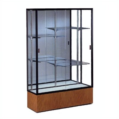 Waddell Reliant 2074 Series Case with Oak Base and Light Fixture