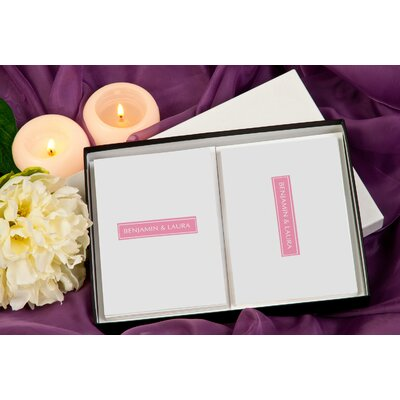 Signature Gifts Color Block Personalized Stationery Card Set