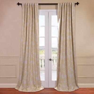 half price drapes sunburst blackout curtain single panel