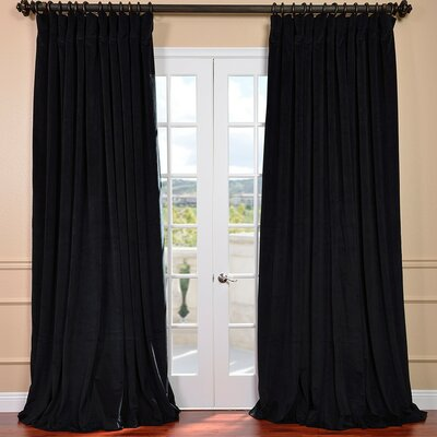 Half Price Drapes Signature Double Wide Velvet Rod Pocket  Curtain Single Panel