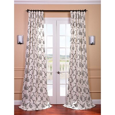 Half Price Drapes Impressions Printed Cotton Rod Pocket Curtain Single Panel