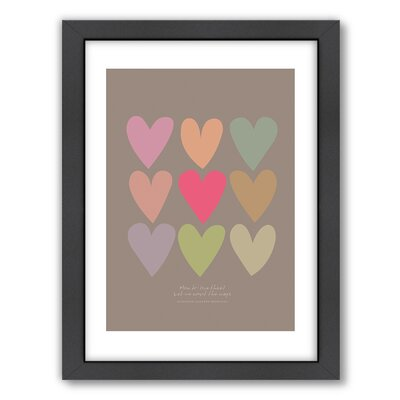 Americanflat Love Thee Hearts Wall Art