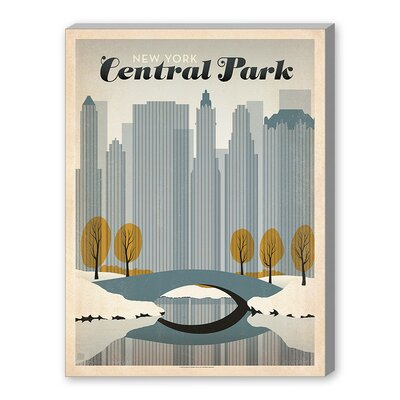 Americanflat World Travel 'Central Park, NYC' by Joel Anderson Vintage Advertisement