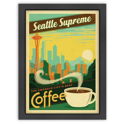 Americanflat Coffee 'Seattle Supreme' by Joel Anderson Vintage Advertisement