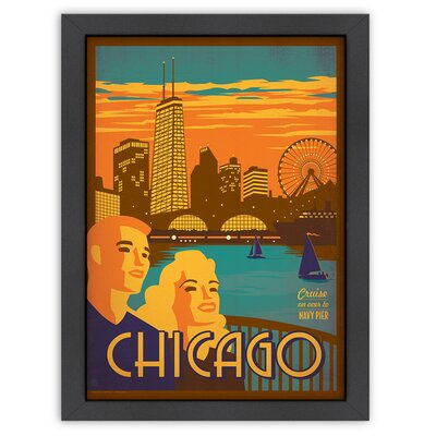 Americanflat World Travel Chicago: Navy Pier Poster