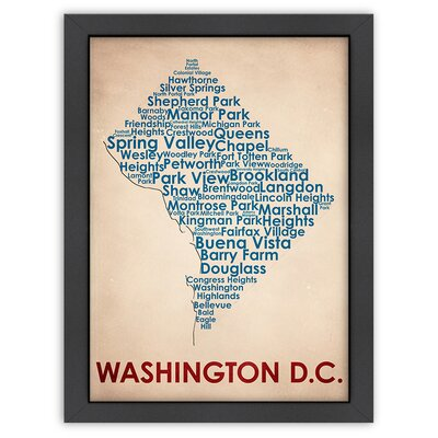 Typography Maps Washington DC Poster