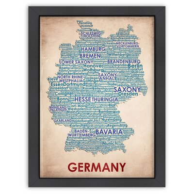 Typography Maps Germany Poster