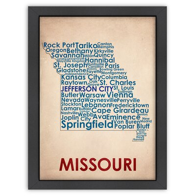 Typography Maps Missouri Poster