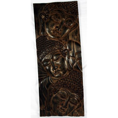 Miami Mumbai Wood Panels 3 Head Vertical Wall Décor