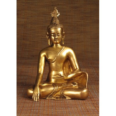 Miami Mumbai Brass Series Buddha Thai Sitting Statue