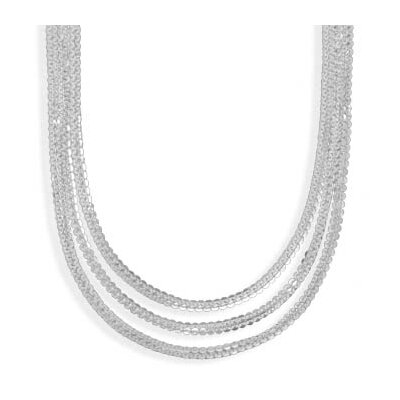 Jewelryweb 18 InchGraduated Multistrand Necklace 18 InchSterling Silver Graduated Six Strand Necklace