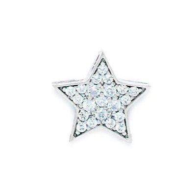 Jewelryweb 14k Gold CZ Star Pendant