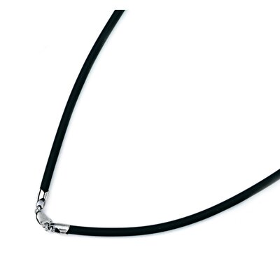 Jewelryweb 14k Gold Rubber Cord Necklace