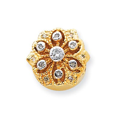 14K Diamond Flower Bracelet Slide