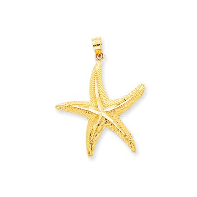 14K Diamond-Cut Starfish Pendant