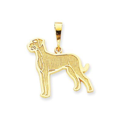 14k Great Dane Pendant