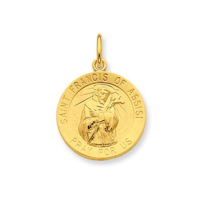 24k Gold-plated Ster. Silver St. Francis of Assisi Pendant