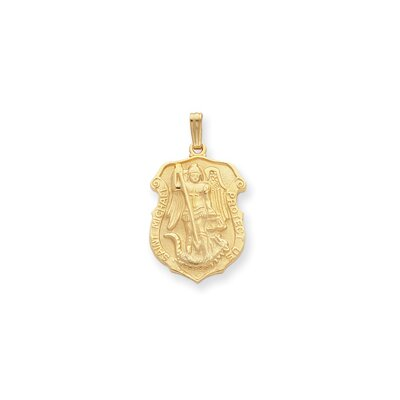 Gold-plated St. Michael Medal Necklace - 24 Inch