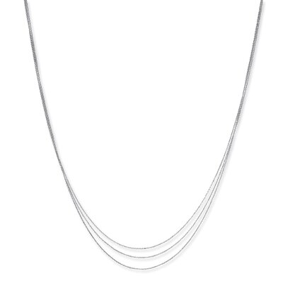 Karat Plat TRIPLE STRAND CABLE GRAD Necklace - 17 Inch