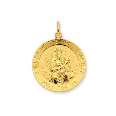 Sterling 24k Gold -plated Queen of the Holy Scapular Pendant