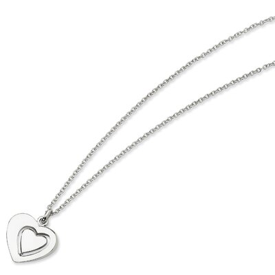 Jewelryweb Sterling Silver Heart Necklace