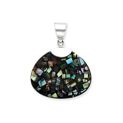 Jewelryweb Sterling Silver Mother of Pearl Pendant
