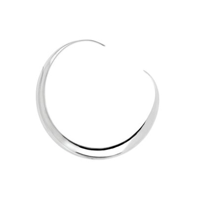 Jewelryweb Sterling Silver Neck Bangle Necklace
