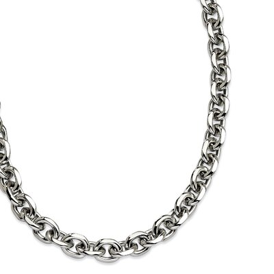 Stainless Steel Polished Necklace - 24 Inch