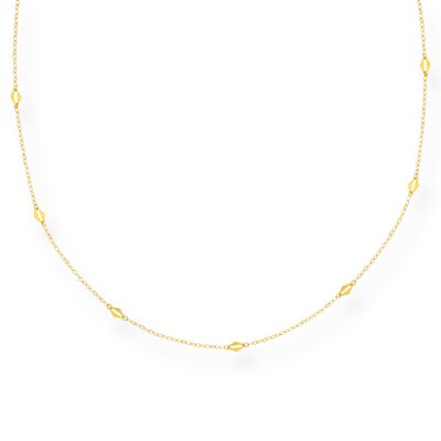 14k Yellow Long-Link Necklace - 56 Inch