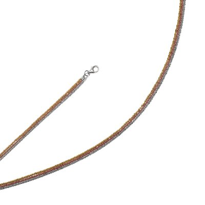 Sterling Silver Color Plated Necklace - 18 InchMulti Strand