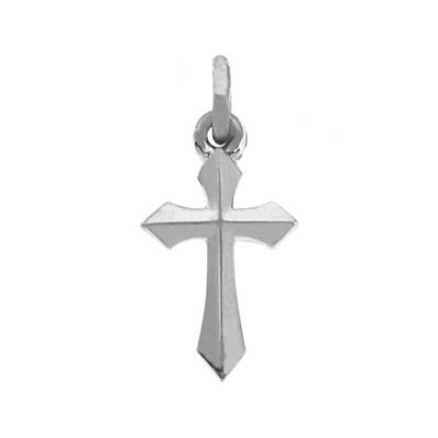 Jewelryweb 14k White Gold Cross Pendant12.5 X 7