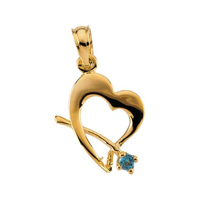 Jewelryweb 14k Yellow Gold Childrens October Pendant11x11.5mm